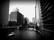 Chicago Black White Digital Art Posters - Chicago Life Poster by Rayniedaze Photography