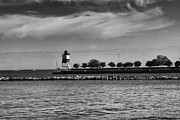 Leslie Leda Prints - Chicago Lighthouse Print by Leslie Leda