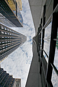 Financial District Posters - Chicago - Look towards the sky Poster by Christine Till
