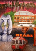 Chicago Bears Paintings - Chicago by Melissa Wiater Chaney