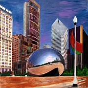 Chicago Art - Chicago Millennium Park by Char Swift