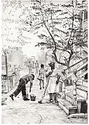 African-american Drawings - Chicago Morning by Brian Child