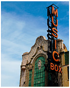 Theater District Prints - Chicago Music Box theater Print by Patrick  Warneka