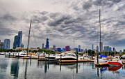 Chicago Skyline Photos - Chicago N Sails by Emily Stauring