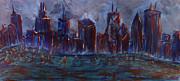 M Zimmerman MendyZ - Chicago Night Skyline...