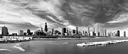 People On Ice Photos - Chicago Panorama by George Imrie Photography