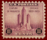1833 Photos - Chicago postage stamp by James Hill
