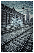 Chicago Digital Art Metal Prints - Chicago Rail Station Metal Print by Donald Schwartz
