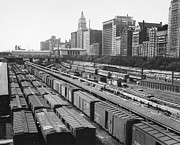 Boxcar Framed Prints - CHICAGO: RAILYARD, c1960s Framed Print by Granger