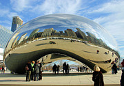 Cloud Gate Art - Chicago Reflected by Kristin Elmquist