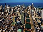Chicago Photography Posters - Chicago River & Skyline, Illinois Poster by Vito Palmisano