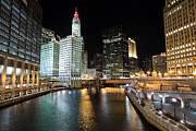 Michigan Art - Chicago River at Michigan Avenue Bridge by Paul Velgos