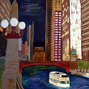 Skyscraper Mixed Media - Chicago River by Char Swift