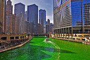 Water St Chicago Photos - Chicago River by Dejan Jovanovic