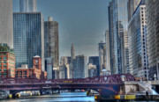 Franklin Metal Prints - Chicago River East Metal Print by David Bearden