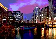 Chicago Reflections Posters - Chicago River Poster by Jim Wright