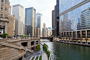 Chicago River Prints - Chicago River Skyline Building Architecture Print by Paul Velgos