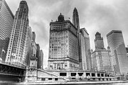 Business-travel Framed Prints - Chicago River Walk II Framed Print by Drew Castelhano