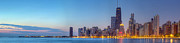 Sky Line Framed Prints - Chicago Skyline at Dawn Framed Print by Twenty Two North Photography