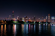Maria Aiello - Chicago Skyline at Night