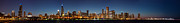 Chicago Attractions Posters - Chicago Skyline at Night Poster by Semmick Photo