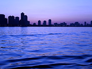 Chicago Skyline At Night Print by Sophie Vigneault