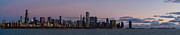 Sky Line Art - Chicago Skyline at Sunrise by Twenty Two North Gallery