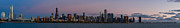 Sky Line Art - Chicago Skyline before Sunrise by Twenty Two North Gallery