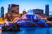 Popular Art - Chicago Skyline Buckingham Fountain High Resolution by Paul Velgos