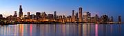 Chicago Skyline Evening Print by Donald Schwartz