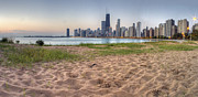 Sky Line Framed Prints - Chicago Skyline from North Beach Framed Print by Twenty Two North Photography