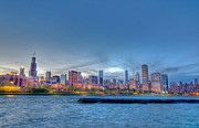 Financial Prints - Chicago Skyline II Print by Drew Castelhano