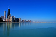 Pure Digital Art Posters - Chicago Skyline Poster by Mingqi Ge