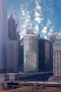 Tom Biegalski Prints - Chicago skyline Print by Tom Biegalski