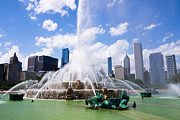 Seahorse Photo Metal Prints - Chicago Skyline with Buckingham Fountain Metal Print by Paul Velgos