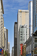 Commercial Metal Prints - Chicago State Street - That great street Metal Print by Christine Till
