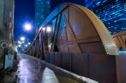 Night Prints - Chicago Steel Bridge Print by Steve Gadomski