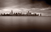 Storm Cloud Framed Prints - Chicago Storm Framed Print by Steve Gadomski