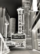 Chicago Black White Posters - Chicago Theater - 2 Poster by Ely Arsha