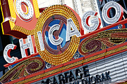 Signage Paintings - Chicago Theater by Anthony Ross