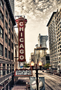 Chicago Baseball Framed Prints - Chicago Theater Framed Print by Tammy Wetzel