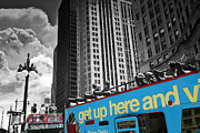 Sightsee Prints - Chicago Tour Bus Print by Madeline Ellis
