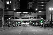 Night Prints - Chicago Train Station Print by Al Blackford