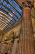 Hall Originals - Chicago Union Station Column by Steve Gadomski