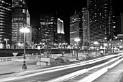 333 Prints - Chicago Wacker Drive at State Street Print by Paul Velgos