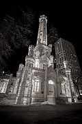 Old Chicago Water Tower Framed Prints - Chicago Water Tower Framed Print by Adam Romanowicz