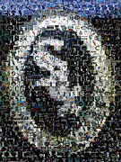 Mlb. Player Prints - Chicago White Sox Ring Mosaic Print by Paul Van Scott