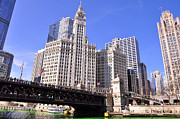Water St Chicago Photos - Chicago Wrigley Building by Dejan Jovanovic