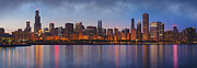 Skylines Digital Art Metal Prints - Chicagos Beauty Metal Print by Donald Schwartz