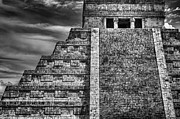 Ancient Ruins Framed Prints - Chichen Itza-Mayan Temple Framed Print by John  Hamlon